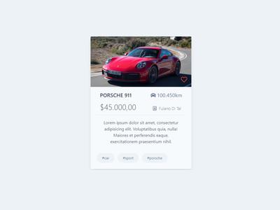 Car shop - Card