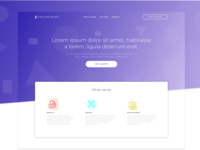 Design Studio Landing Page