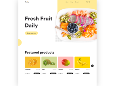 Fresh Fruit Delivery Concept Page