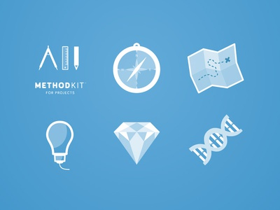 MethodKit for Projects icon icons icon design deck of cards method hyper island stockholm minimal minimalistic
