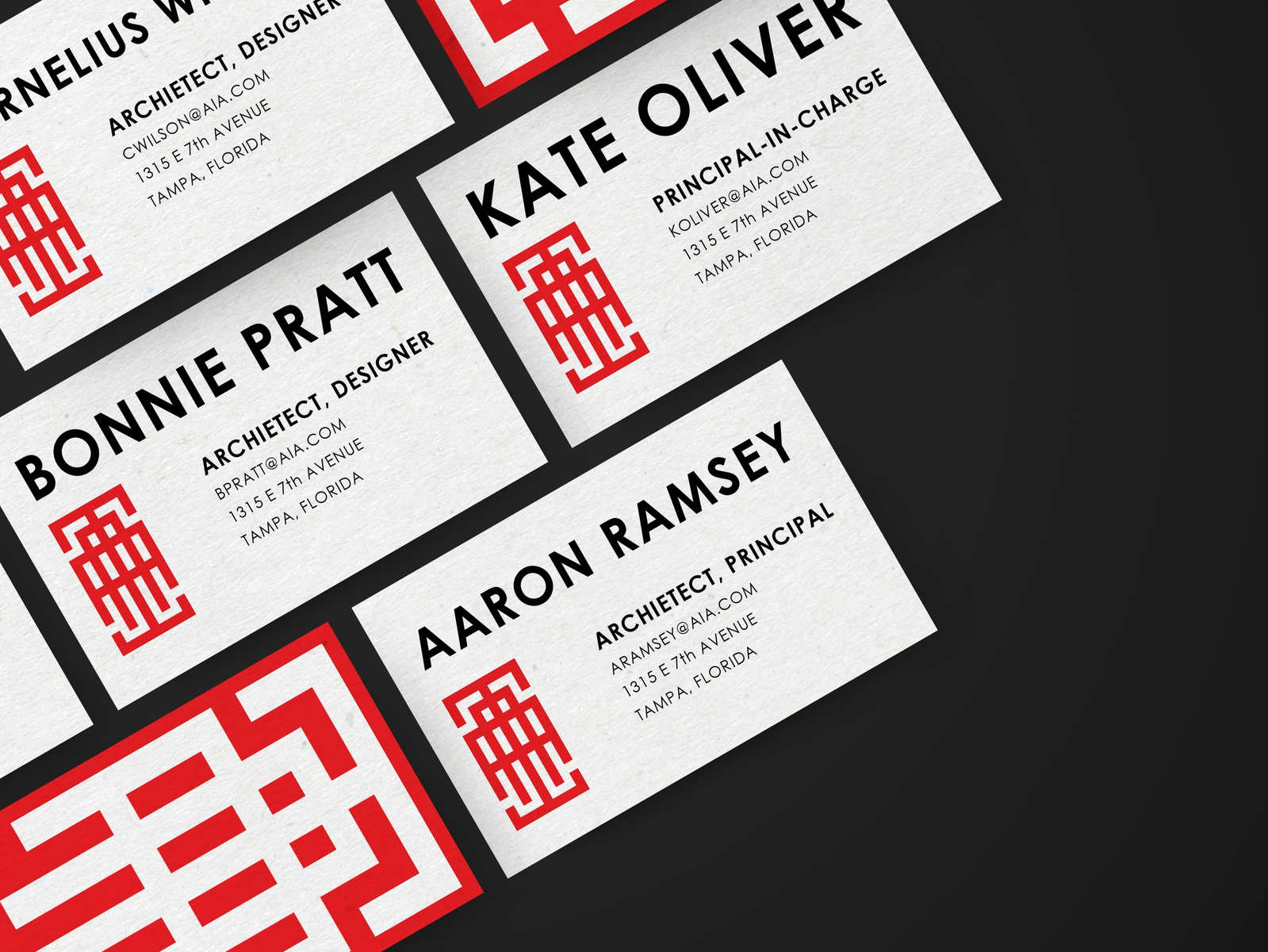 Aia business cards by patrick henderson dribbble business cards mockup 4x colourmoves