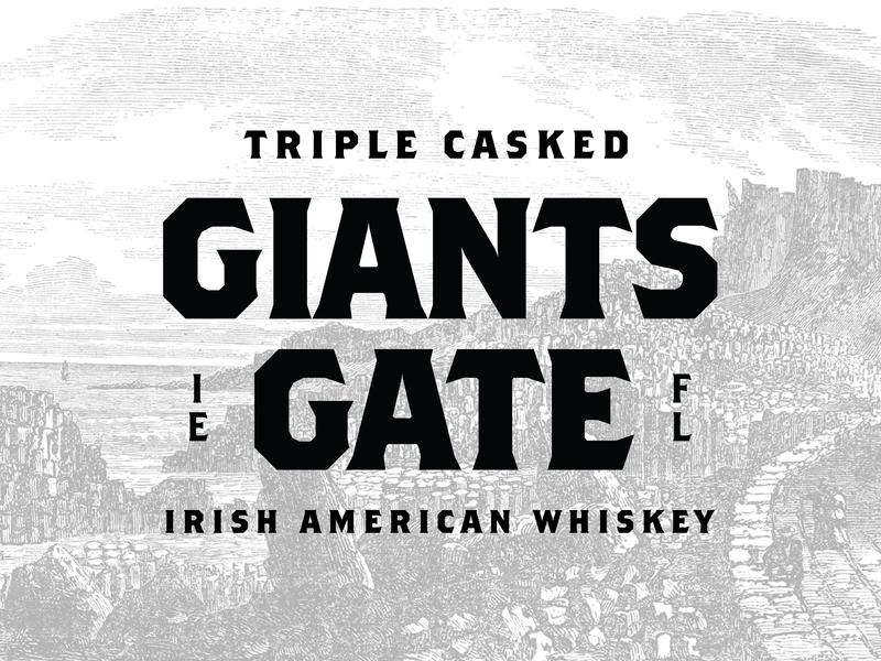 Giants Gate america ireland branding badge logo type icon illustrator illustration layout typography whiskey lettering design