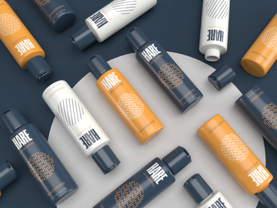 Men's HARE Products photography art direction icon type branding logo lettering design hair hair products shampoo