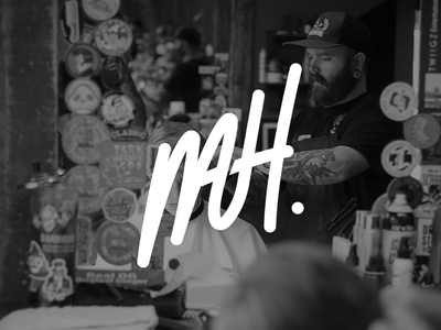 Mathew Harlan monoline branding flat minimal typography icon lettering vector design illustration barber