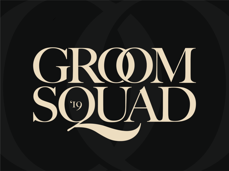 Groom Squad - The Farewell Tour trip summer river squad groom wedding flat photoshop vector badge illustrator type lettering branding icon typography serif wordmark logo design