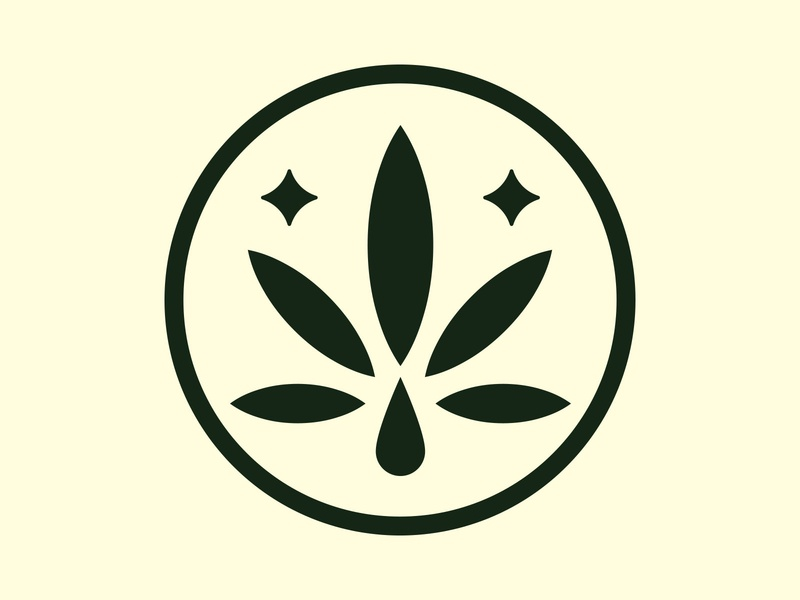 CBD Logo Exploration tincture lockup badge leaf vector branding star drop weed logo oil cbd