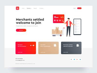 Merchants settled illustration