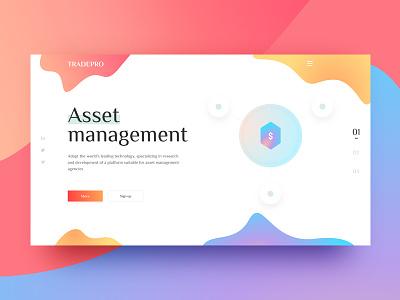 Asset Management page hiwow financial ui color web