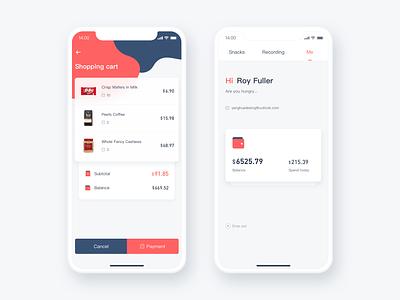 Office Snacks Concept APP hiwow account x iphone design app ios cart
