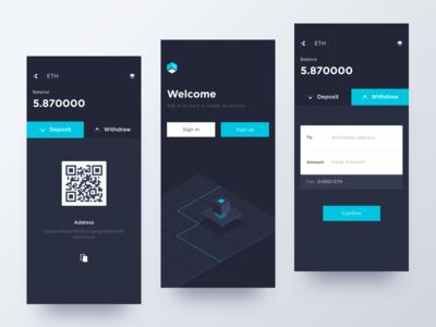 Conceptual digital currency app
