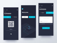Conceptual digital currency app