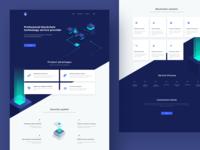 Blockchain service Landing Pages