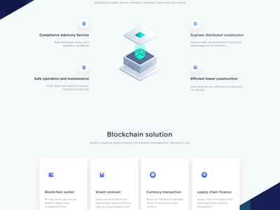 Blockchain service Landing Pages landing pages blockchain 金融 网站