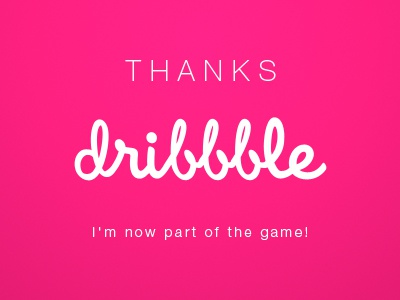 Thanks dribbble 400x300