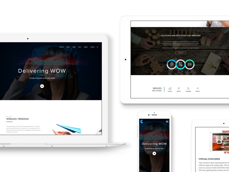 Credencys Redesign Concept user experience minimal responsive landing page web design