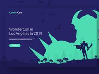 Comic Con - Landing Page