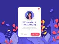 03 Dribbble Invitations