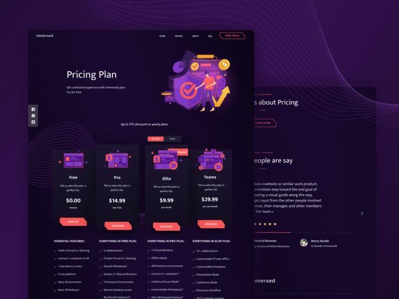 Immersed Website Design (Live)