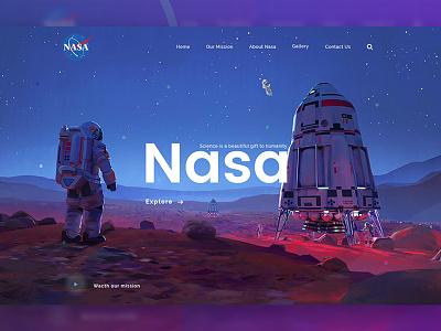 Daily UI #008 ( Header Exploration for NASA) web ui header exploration header spaced challenge daily ui ux ui webdesign web space redesign nasa galaxy astronaut  cosmo  cosmos