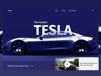 Daily UI #023 (Tesla Header Exploration Concept)