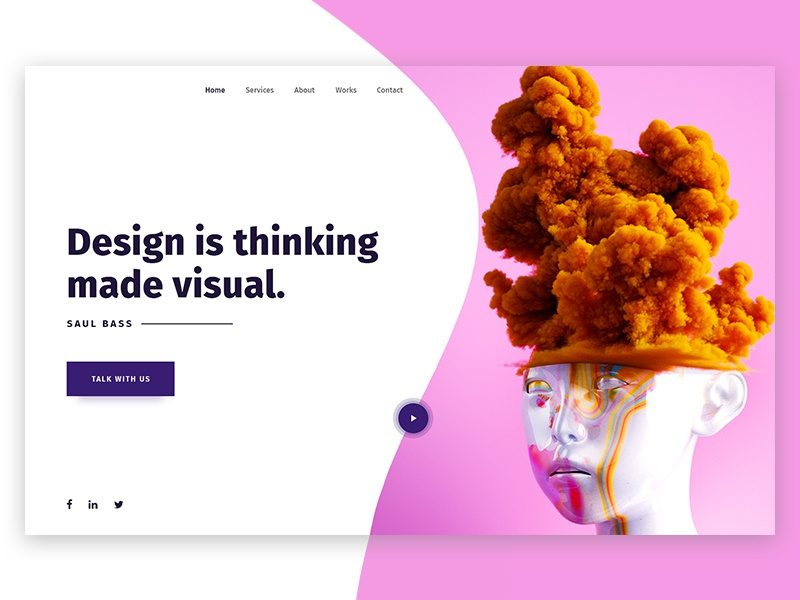 Daily UI #028 (Creative agency header exploration) illustation artwork material typhography web gradient creative agency ux ui