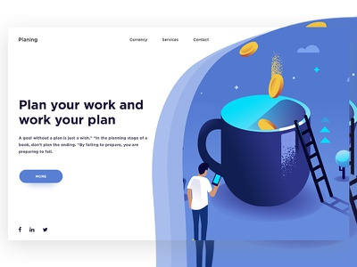 Conceptual Web UI Exploration (Planning) illustration web ux ui systematic save monthly money term long investment finance