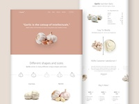 Product Landing Page  (Garlic)