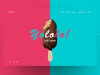 Conceptual Web UI Exploration ( Ice Cream Shop )