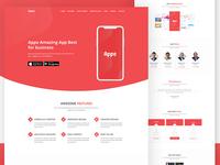 App Landing Theme Design