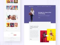 Fashion Blog Landing Page
