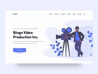 Bingo Video Production Landing Page