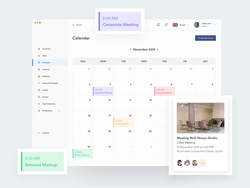 Alaina: Dashboard UI Kit calendar screen design application dashboard design dribbble ios iphone ui mobile ux bank chart cryptocurrency finance financial dribbble popular shot gauge graph map statistics stats charts