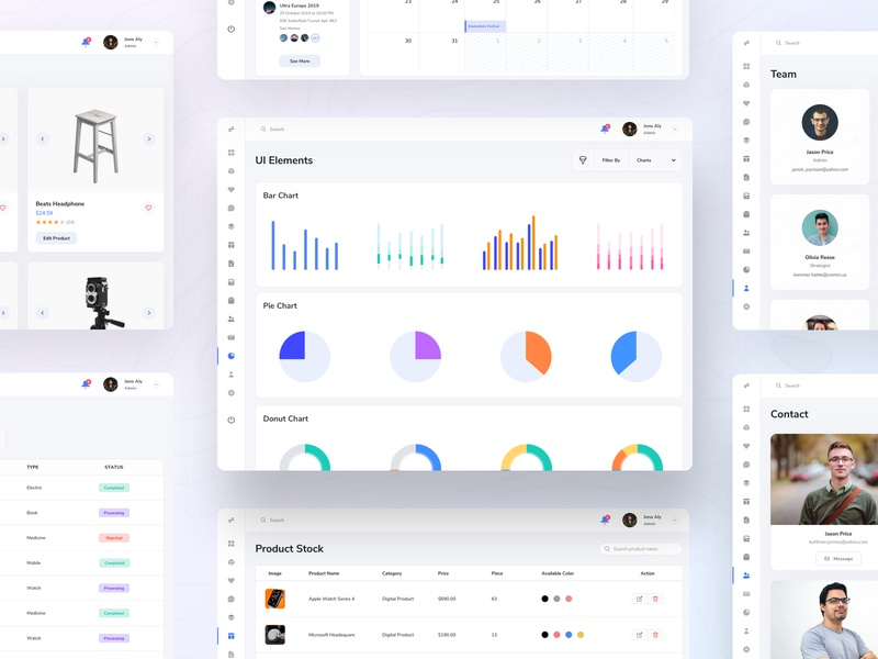 Bright Web Dashboard UI Kit dashboard ui design ui kit dashboard ui kit finance dashboard financial dashboard admin dashboard dashboard ui branding illustration clean statistics android dashboard gradient design ios ui