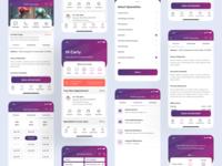 Accesselite Patient App (Live  🤳) gradient vector illustration meditation healthcare app webapp design dashboard design branding travel app medicine product design live app ios app design dashboard medical pateint app android app ios app