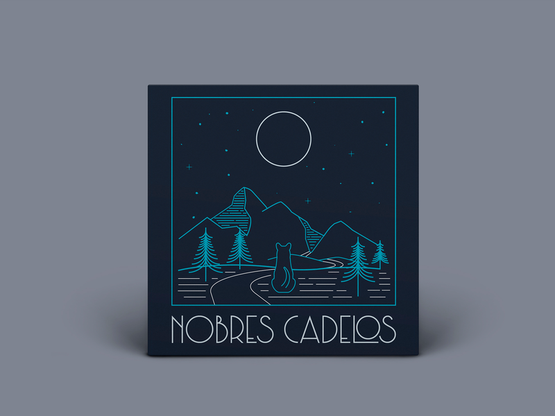 Nobres Cadelos Album Cover proposal 2 mountains album artwork night rock dog moon album cover design album cover art