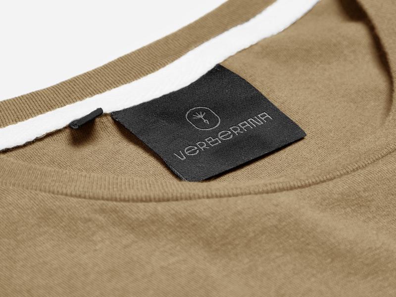 Verberana Logo label brazilian brazil fashion monoline minimal black urbanart urban streetwear sustainable eco t-shirt label identity brand logo design design logo