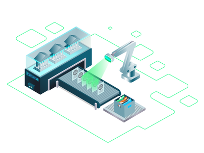 Process Automation Isometric Illustration