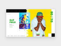 Studio portfolio homepage