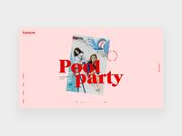 Agency homepage portfolio