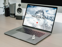 Free Modern Workstation MacBook Pro Mockup
