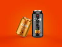 Free 2 Metallic Cans Mockup