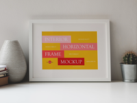 Free Interior Horizontal Frame Mockup