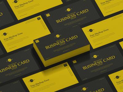 Free Grid Stack of Business Card Mockup psd print template stationery mockups logo identity freebie free mockup psd mockup free free mockup mock-up mockup font download branding
