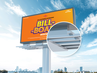 Free City Advertising 6x12 Feet Billboard Mockup