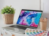 Free Artistic Interior MacBook Pro Mockup