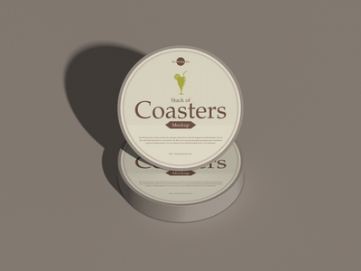 Free Stack of Coasters Mockup