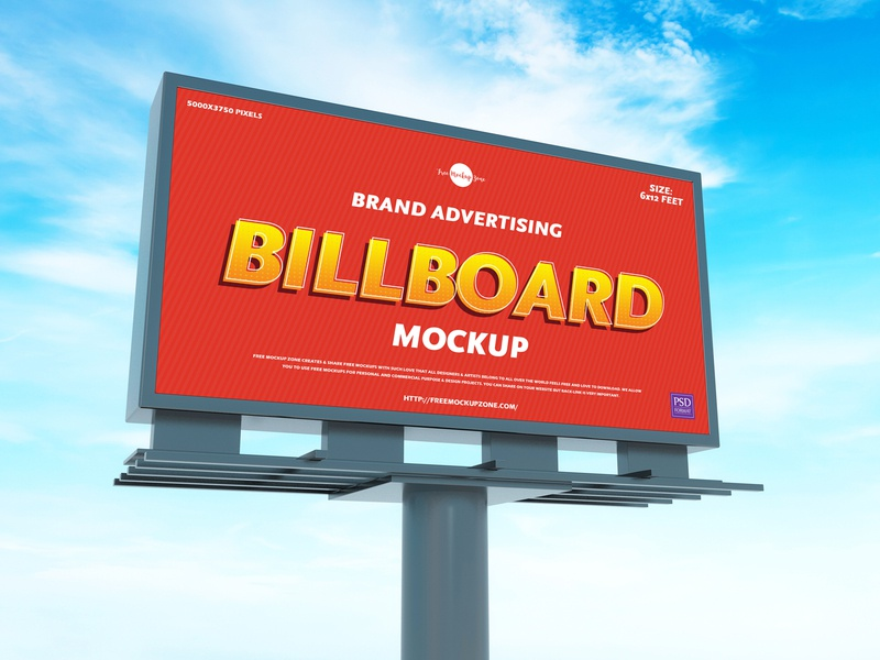 Free Brand Advertising Billboard Mockup psd print template stationery mockups logo identity freebie free branding mockup billboard mockup mockup psd mockup free free mockup mock-up mockup billboard font download branding
