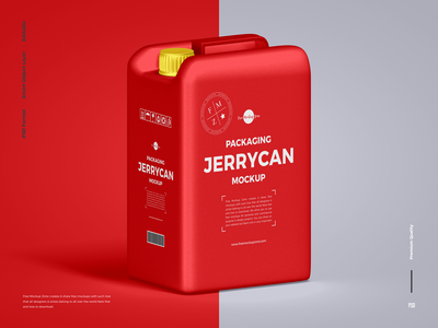 Free Jerrycan Mockup psd print template stationery mockups packaging design identity freebie free can mockup jerrycan mockup mockup psd mockup free free mockup mock-up mockup packaging mockup container mockup download branding