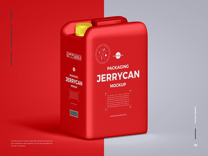 Download Free Jerrycan Mockup