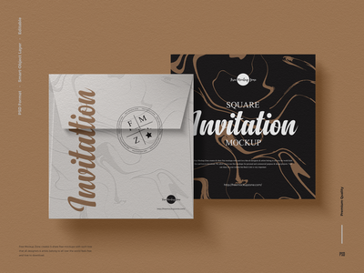 Free Invitation Mockup invitation mockup